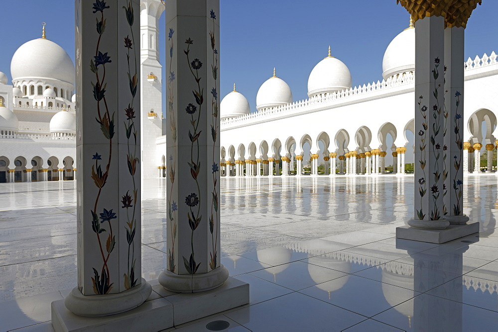 The Sheikh Zayed Grand Mosque, Abu Dhabi, United Arab Emirates, Middle East - 724-2510