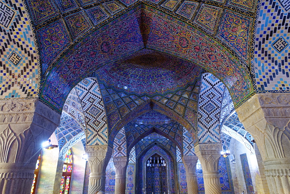 Nasir-ol-Molk Mosque (Rose Mosque), Shiraz, Iran, Middle East - 724-2525
