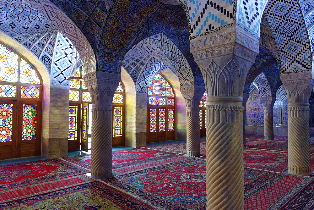 Nasir-ol-Molk Mosque (Rose Mosque), Shiraz, Iran, Middle East - 724-2527