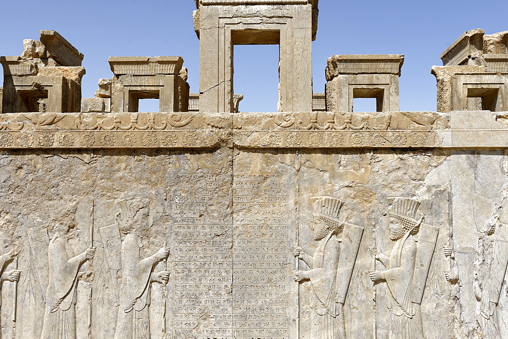 Medes and Arachos priests, The Tachara, the Palace of Darius the exclusive building of Darius I, Persepolis, Iran, Middle East - 724-2545