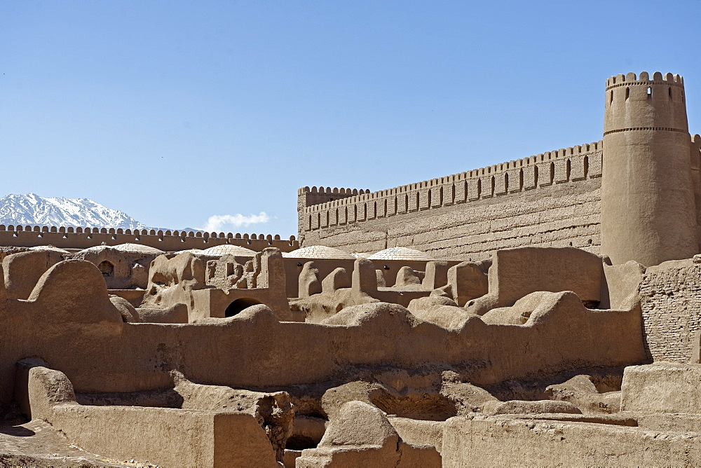 Rayen Castle, situated on the skirts of the mountain Haraz, Kerman Province, Iran, Middle East