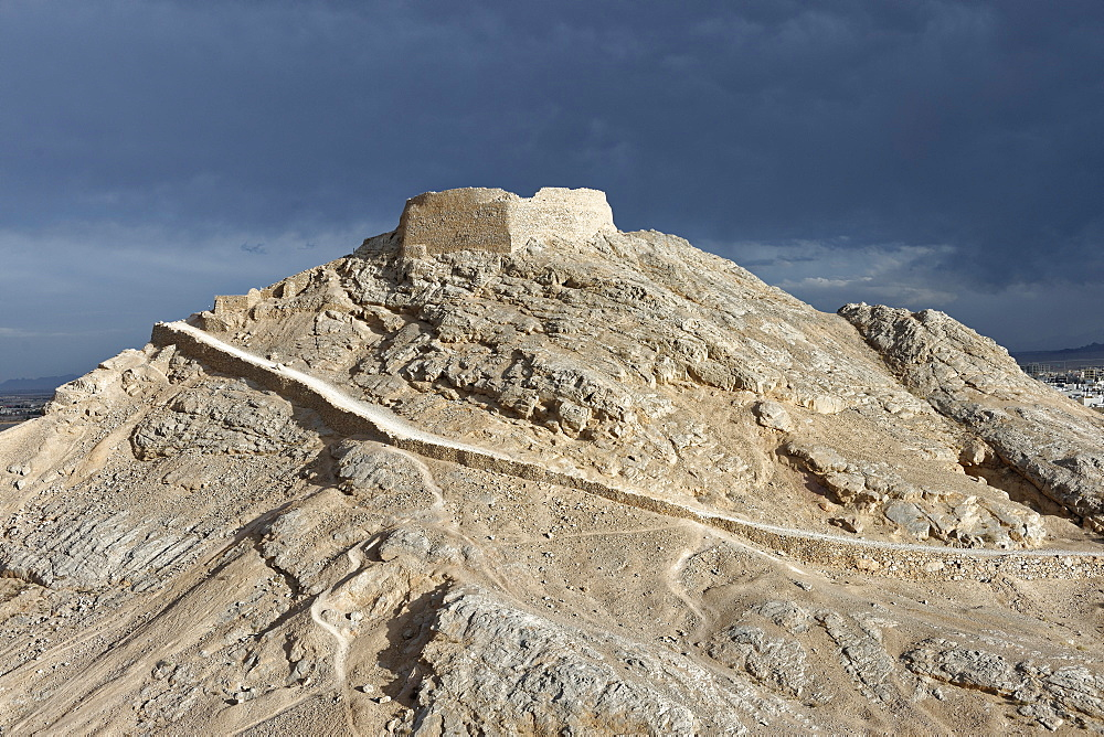 Zoroastrian Tower of Silence on the outskirts of the city, Yazd city, Iran, Middle East - 724-2575