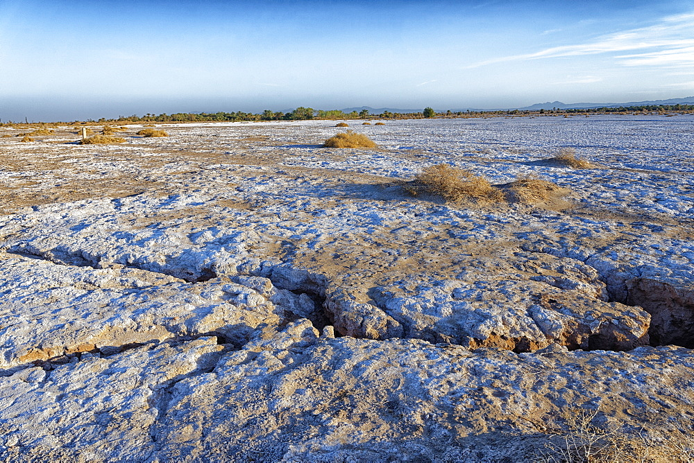 Mahrejan salt lake, Yazd area, Iran, Middle East - 724-2590