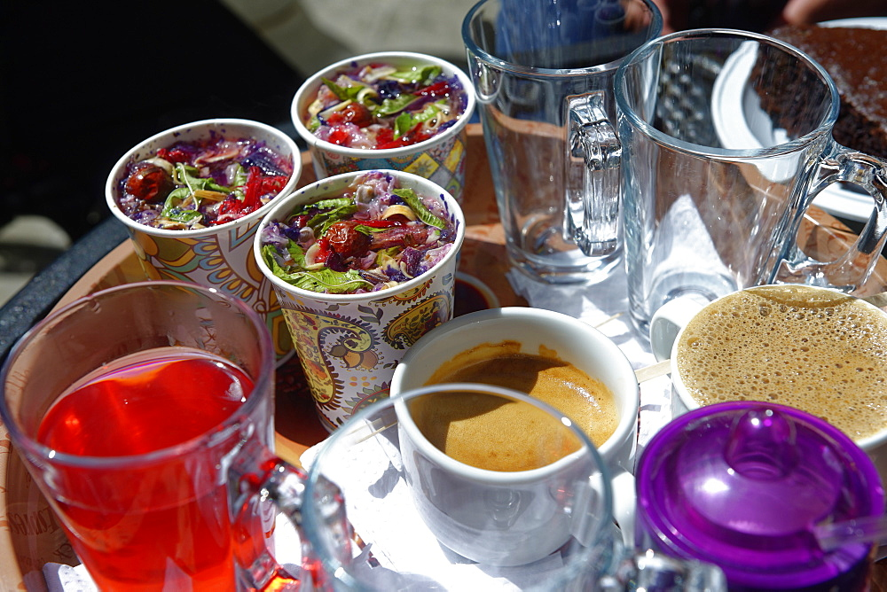 Sharbat, a sweet Iranian drink made from fruit or flower petals, Isfahan, Iran, Middle East - 724-2610