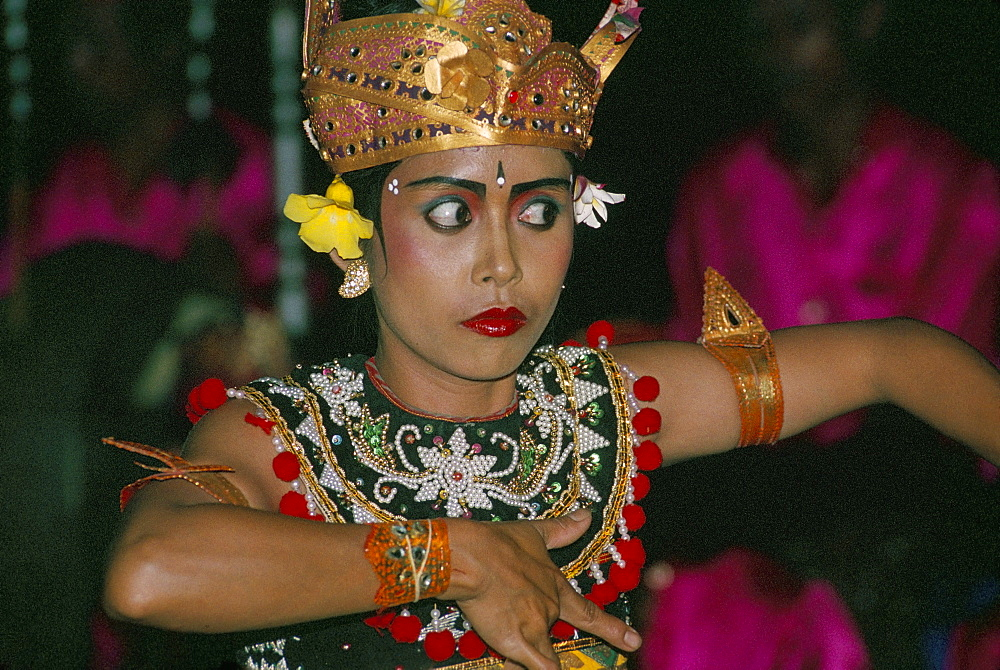 Dancer in the Gong of Angklung Kocok, Ubud region, island of Bali, Indonesia, Southeast Asia, Asia