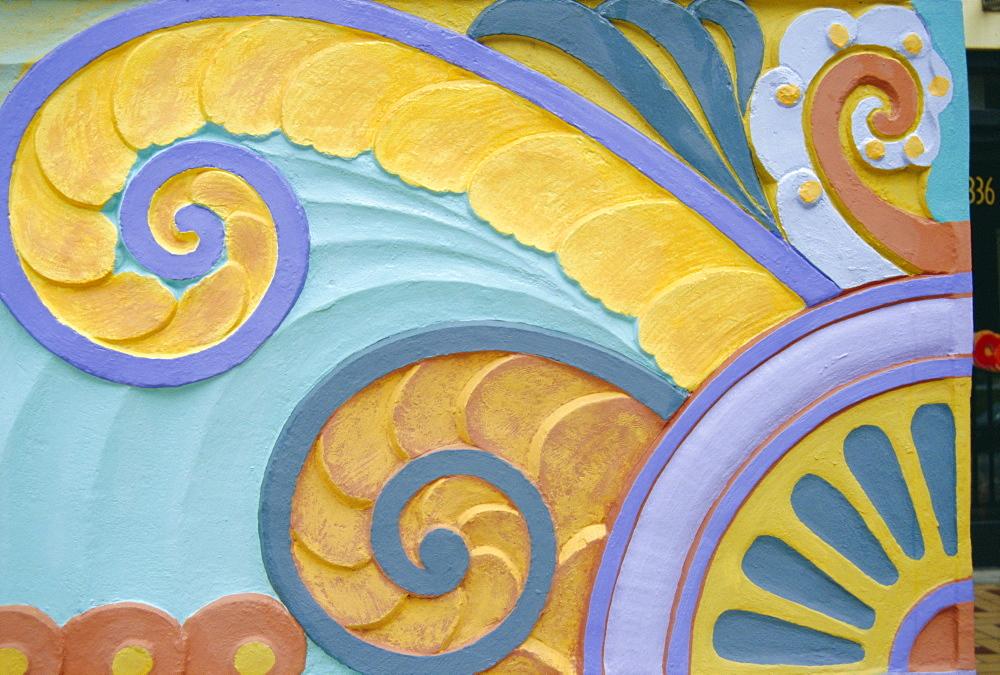 Art Deco detail, Miami Beach, Florida, USA - 728-1588