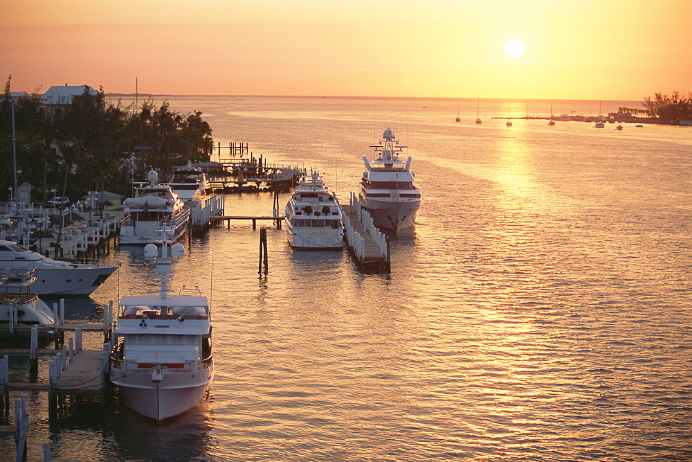 Boats in the harbour, Nassau, New Providence Island, Bahamas, West Indies, Central America