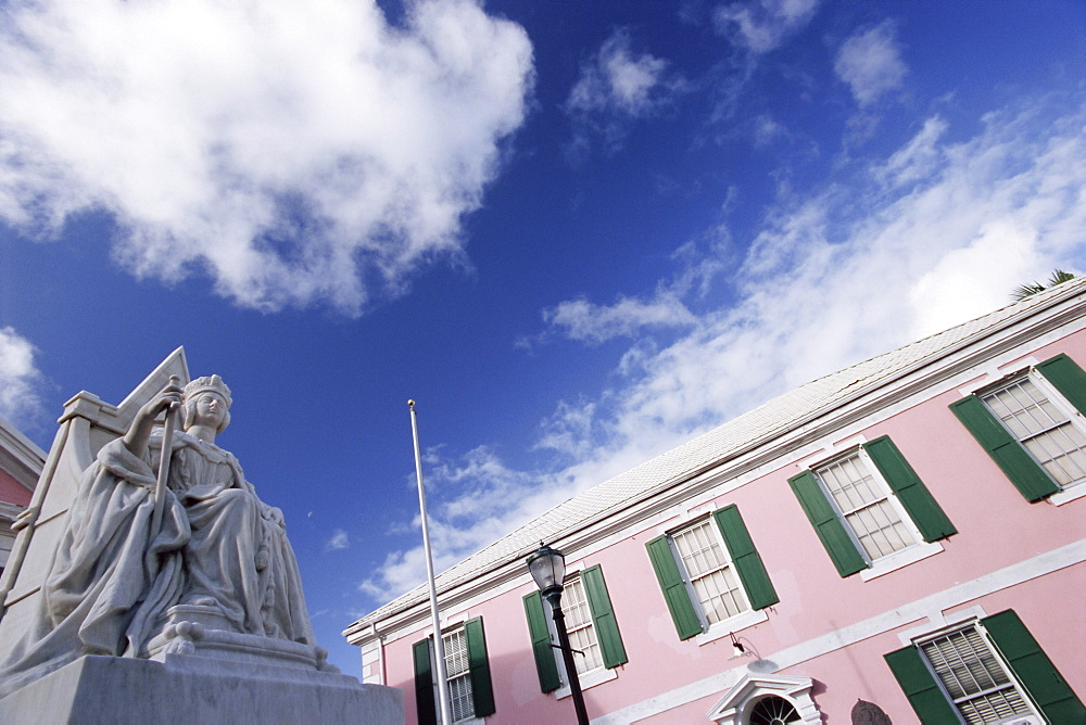 Statue of Queen Victoria, Nassau, New Providence Island, Bahamas, West Indies, Central America