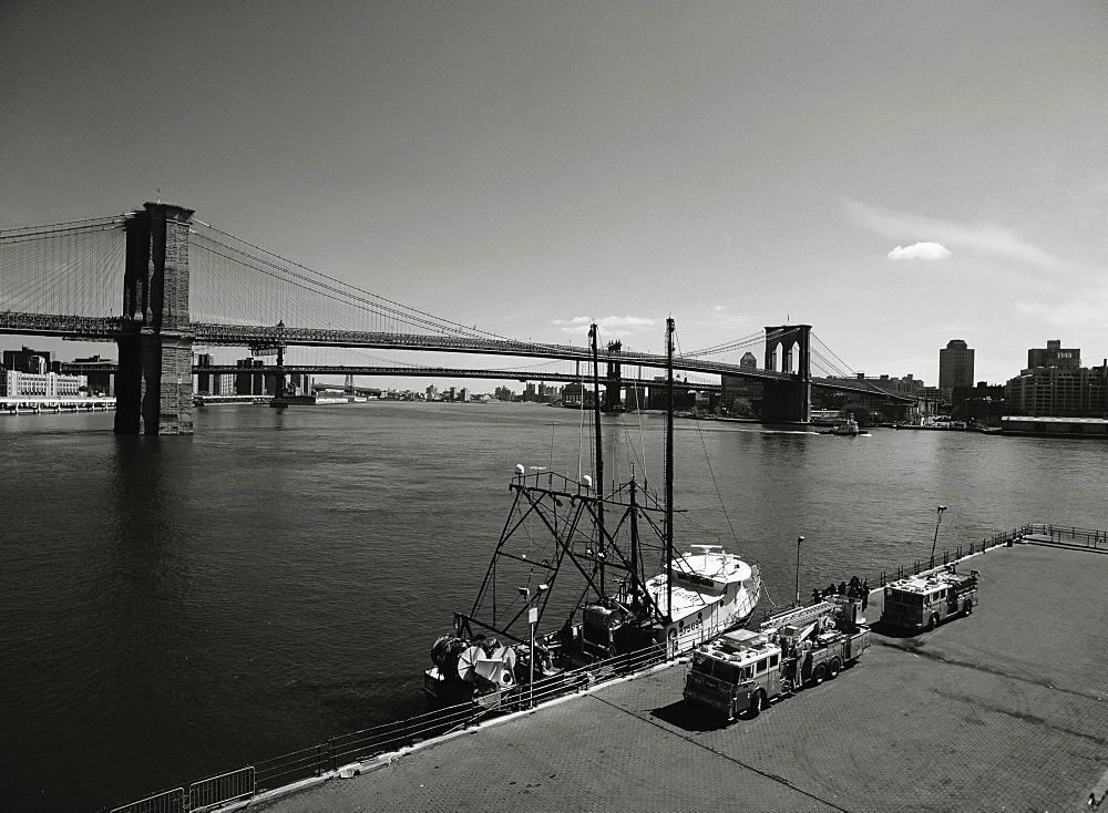 Brooklyn Bridge, New York City, New York State, United States of America, North America