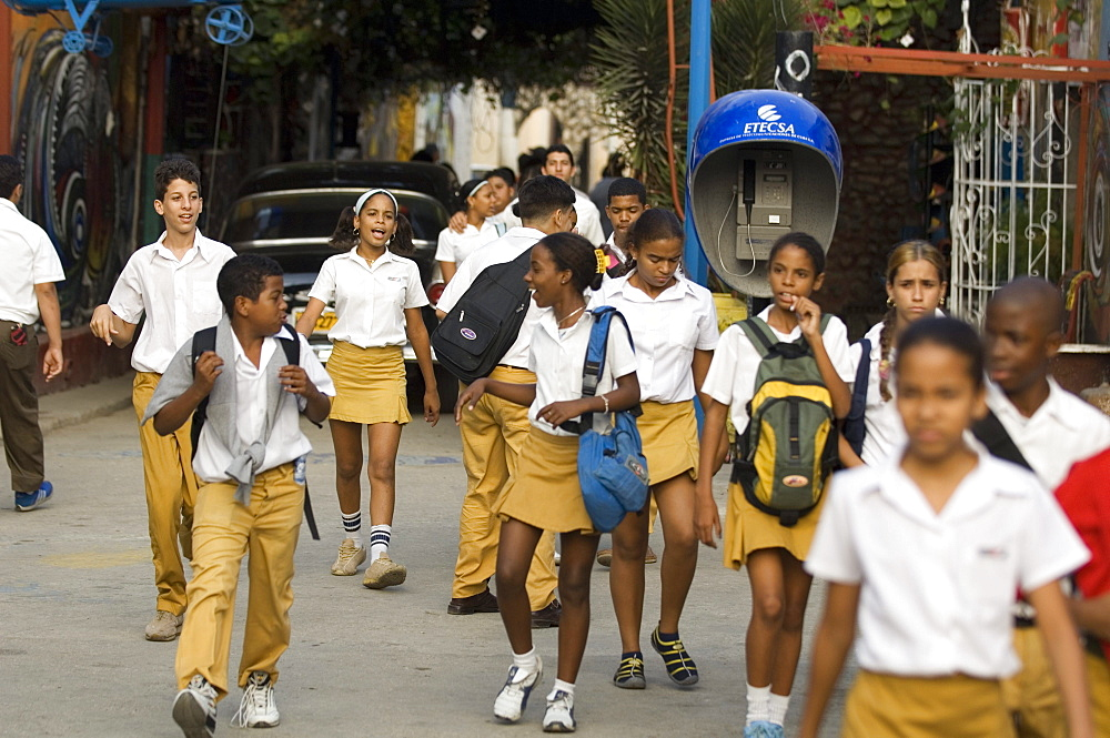 School kids, Havana, Cuba, West Indies, Central America