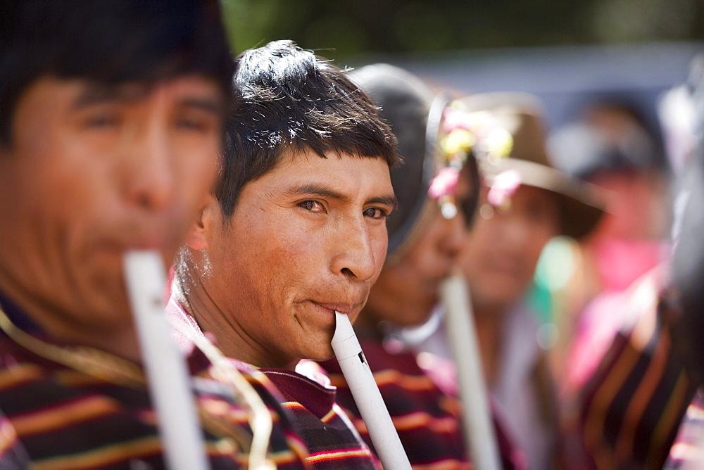 Musicians at Carnival, Sucre, Bolivia, South America