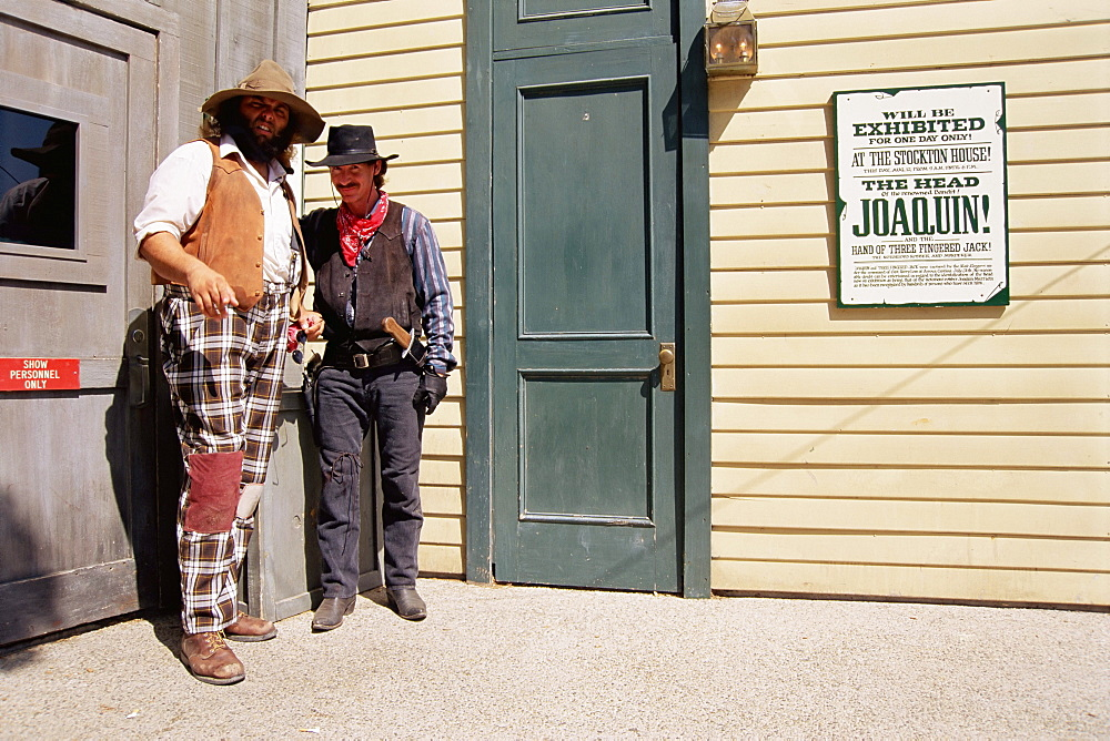 Two cowboys, Universal Studios, Hollywood, Los Angeles, California, United States of America (U.S.A.), North America