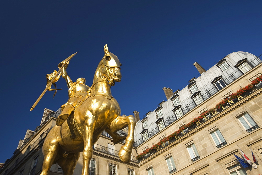 Statue of Joan of Arc, Rue de Rivoli, Paris, France, Europe