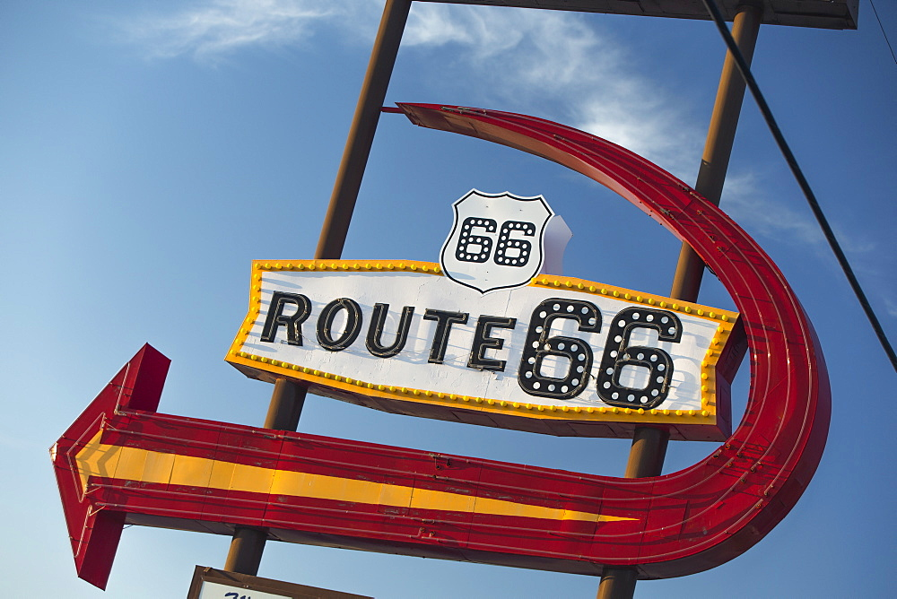 Sign on Route 66, Kingman, Arizona, United States of America, North America