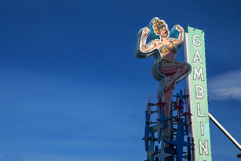 Gambling sign in Las Vegas, Nevada, United States of America, North America