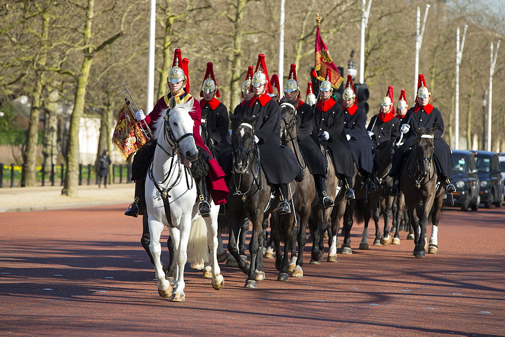 Horse Guards on The Mall, London, England, United Kingdom, Europe