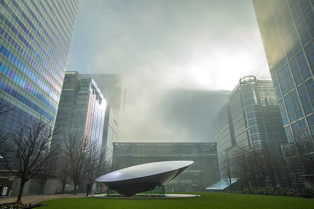 Office buildings at Canary Wharf, Docklands, London, England, United Kingdom, Europe