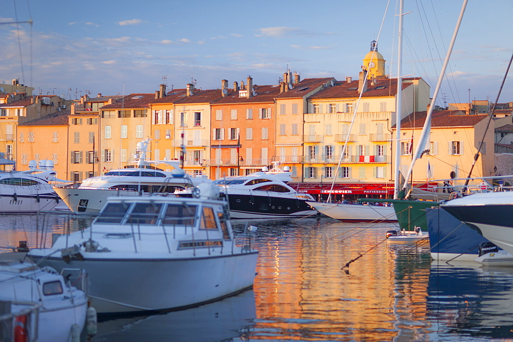 Harbour, St. Tropez, Var, Provence, Cote d'Azur, French Riviera, France, Mediterranean, Europe