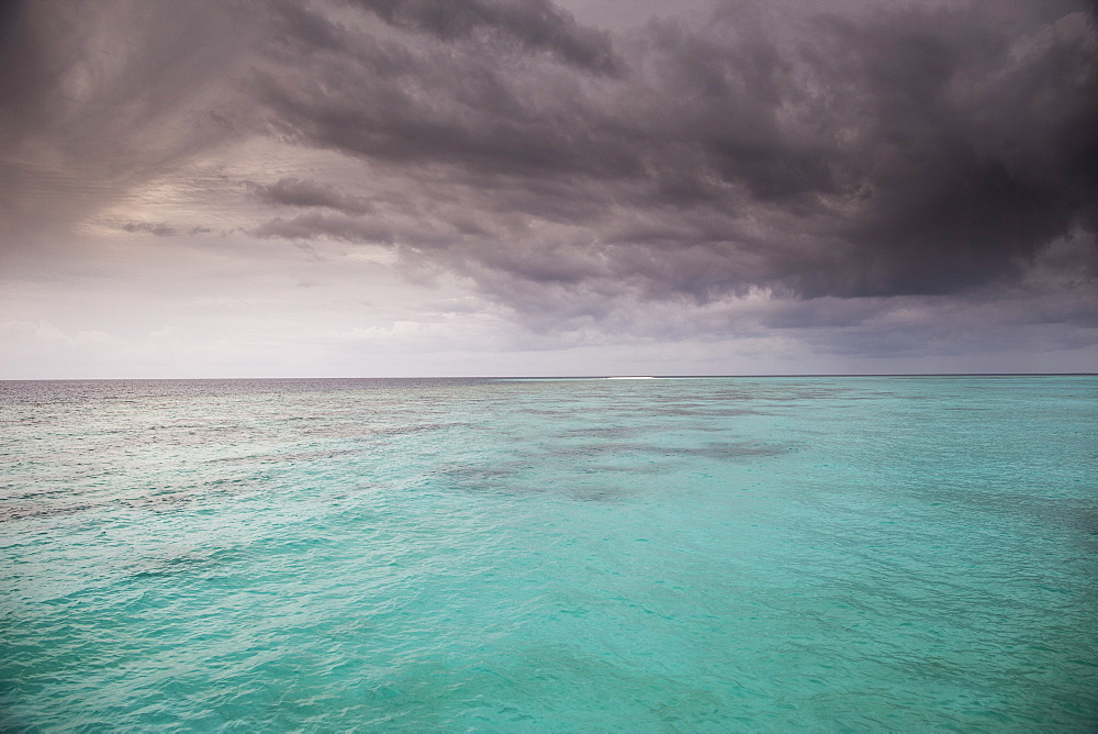 Stormy sky over ocean, The Maldives, Indian Ocean, Asia