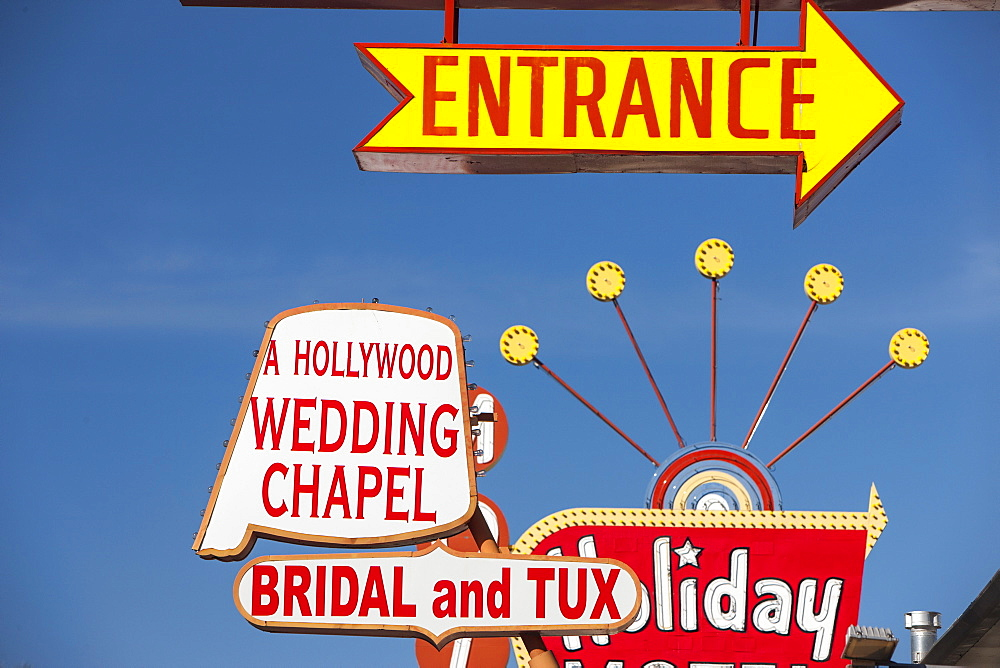 Wedding Chapel sign. Las Vegas, Nevada, United States of America, North America