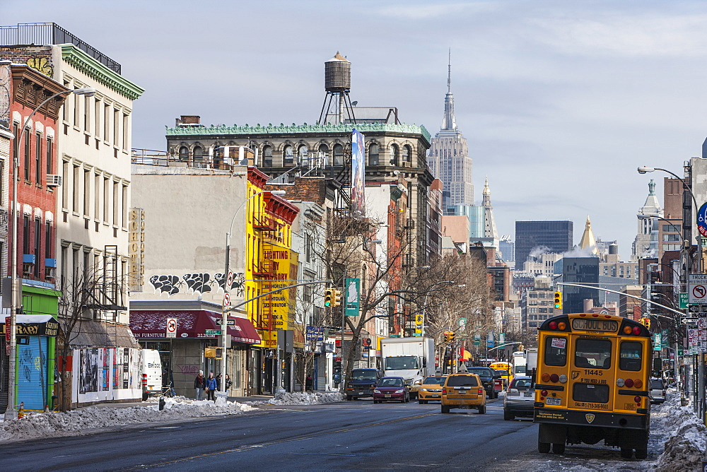 Street scene, New York, United States of America, North America