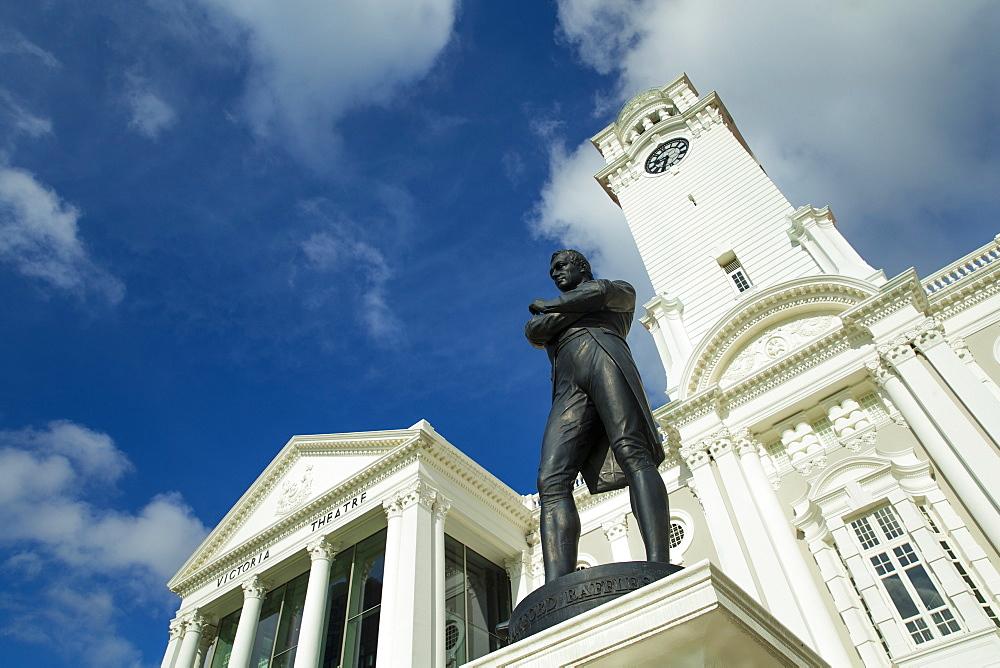 Raffles Monument, Singapore, Southeast Asia, Asia - 728-6312