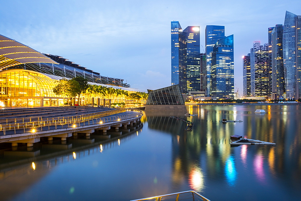 Marina Bay Sands and Financial District, Singapore, Southeast Asia, Asia - 728-6349