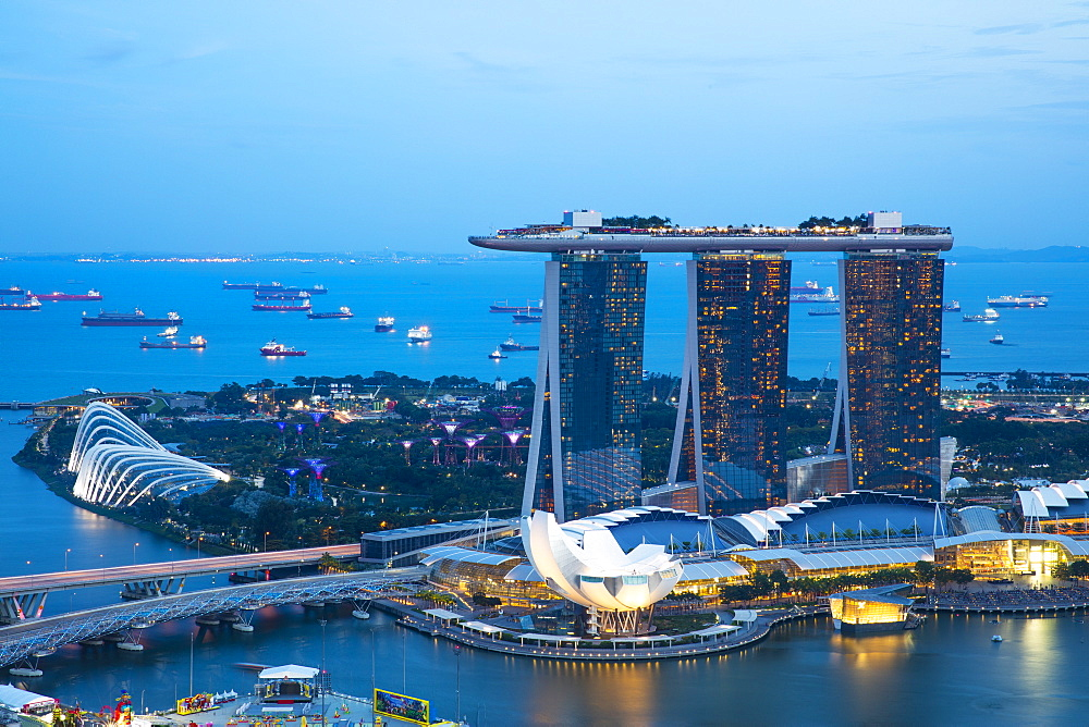 Marina Bay Sands Hotel and Gardens by the Bay, Singapore, Southeast Asia, Asia - 728-6359
