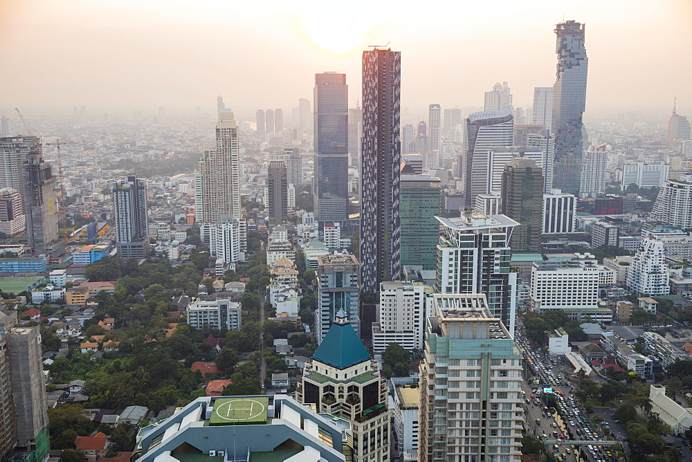 Business District in Bangkok, Thailand, Southeast Asia, Asia - 728-6398