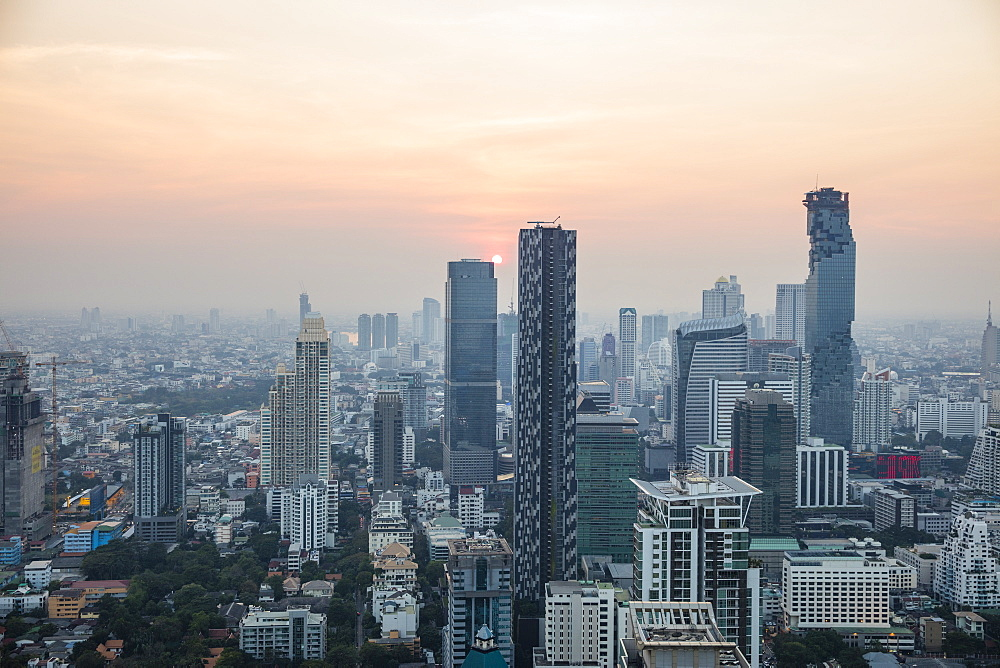 Business District in Bangkok, Thailand, Southeast Asia, Asia - 728-6399