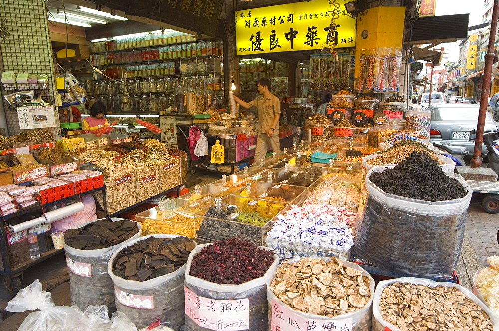 Dihua Street, sundry wholesale goods market, Taipei City, Taiwan, Asia