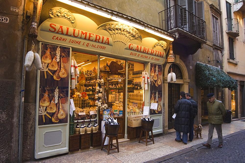 Food shop, Verona, Veneto, Italy, Europe