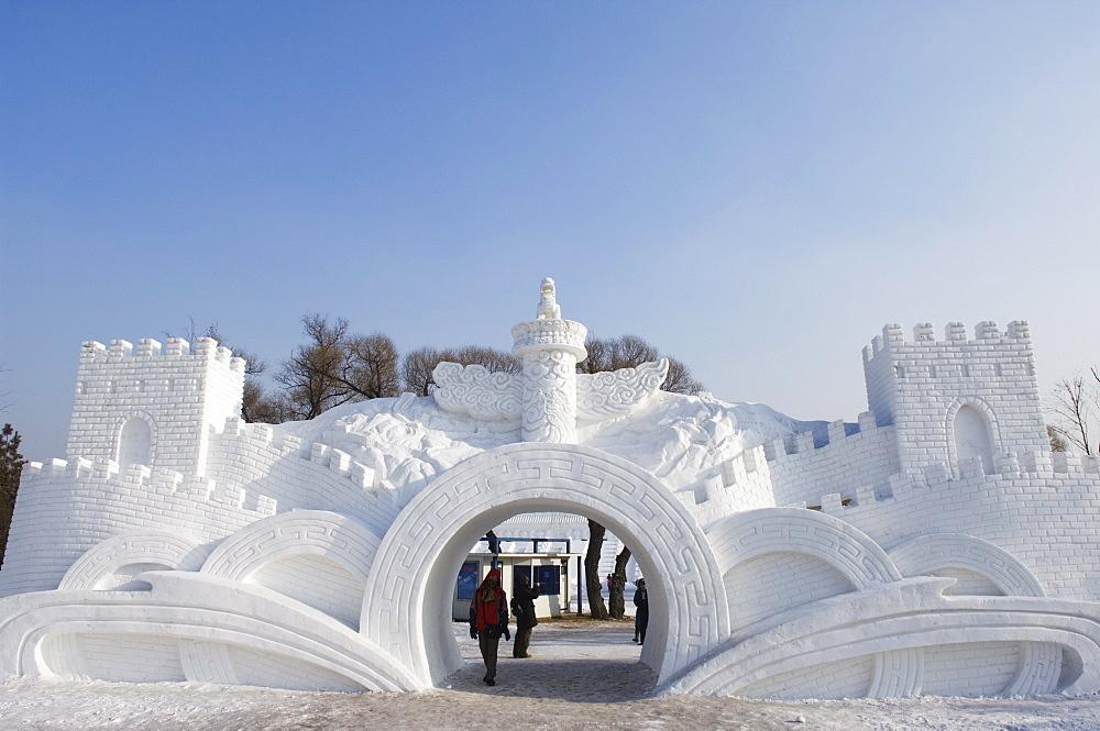 Snow and Ice Sculpture Festival at Sun Island Park, Harbin, Heilongjiang Province, Northeast China, Asia - 733-2887