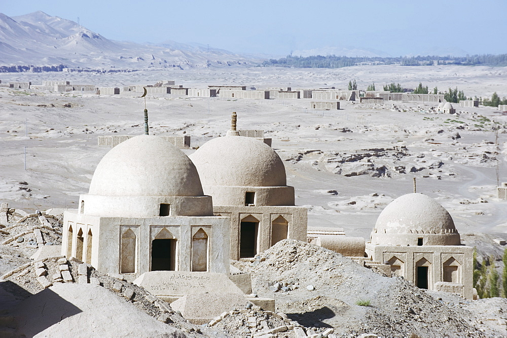 Ruined city of Jiaohe, Turpan on the Silk Route, UNESCO World Heritage Site, Xinjiang Province, China, Asia
