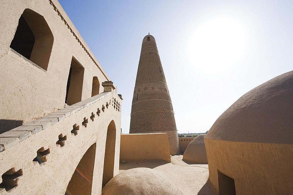 Emin Minaret, Turpan on the Silk Route, UNESCO World Heritage Site, Xinjiang Province, China, Asia