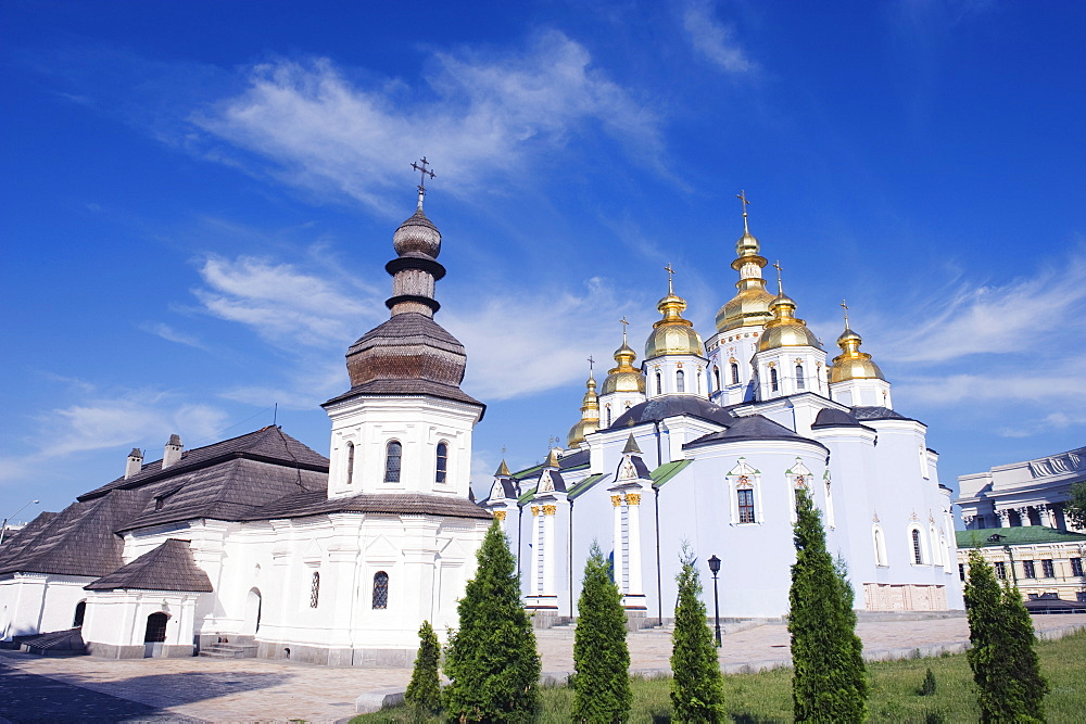 St. Michaels Gold Domed Monastery, 2001 copy of 1108 original, Kiev, Ukraine, Europe