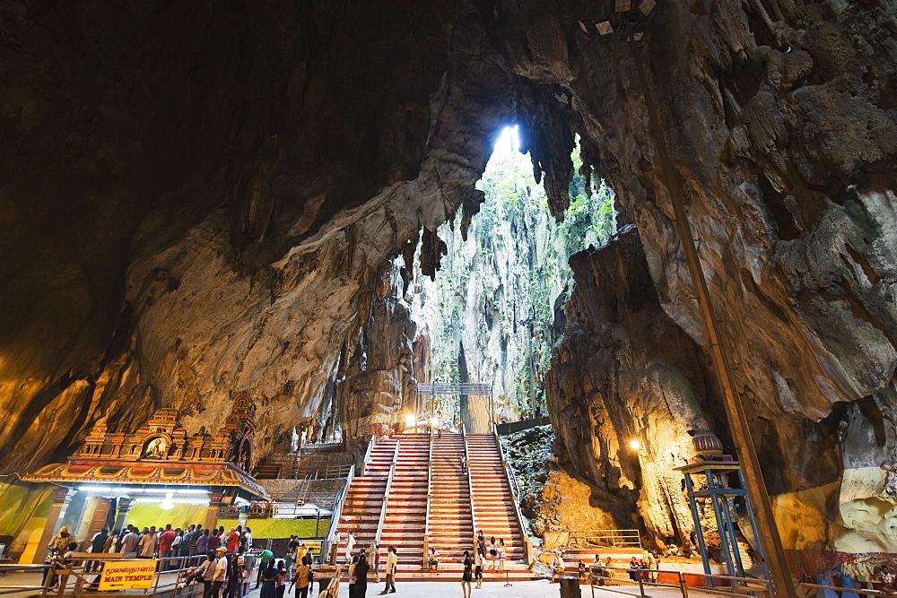 Hindu Shrine in Temple Cave at Batu Caves, Kuala Lumpur, Malaysia, Southeast Asia, Asia