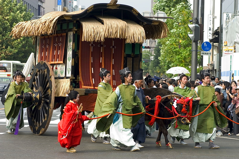 Jidai Matsuri, Festival of the Ages, procession, Kyoto city, Honshu, Japan, Asia - 733-404