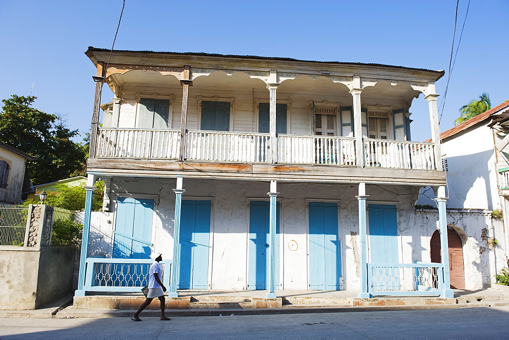 House in the historic colonial old town, Jacmel, Haiti, West Indies, Caribbean, Central America