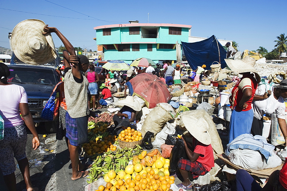 Street market, Port au Prince, Haiti, West Indies, Caribbean, Central America