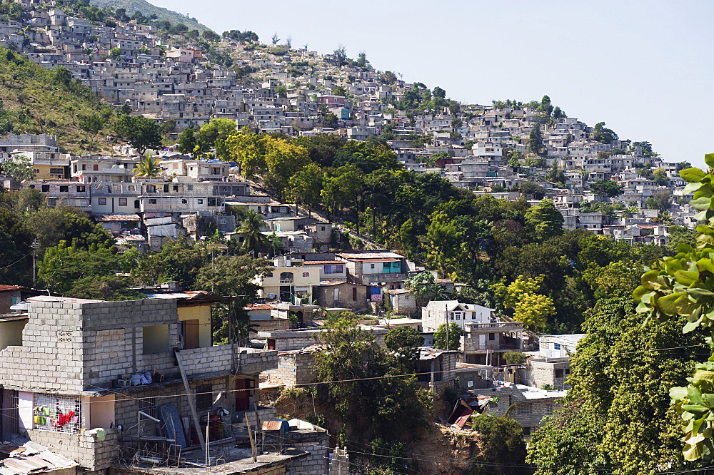 Slums, Port au Prince, Haiti, West Indies, Caribbean, Central America
