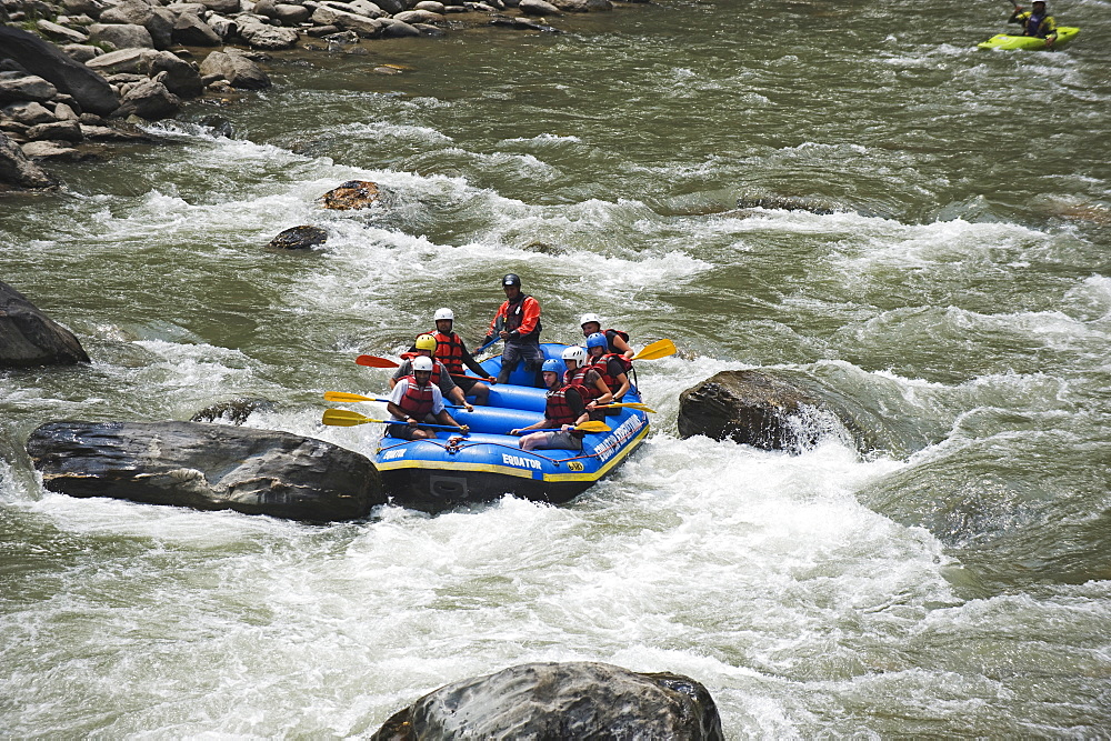 White water rafting on the Bhote Kosi River, Kathmandu Valley, Nepal, Asia