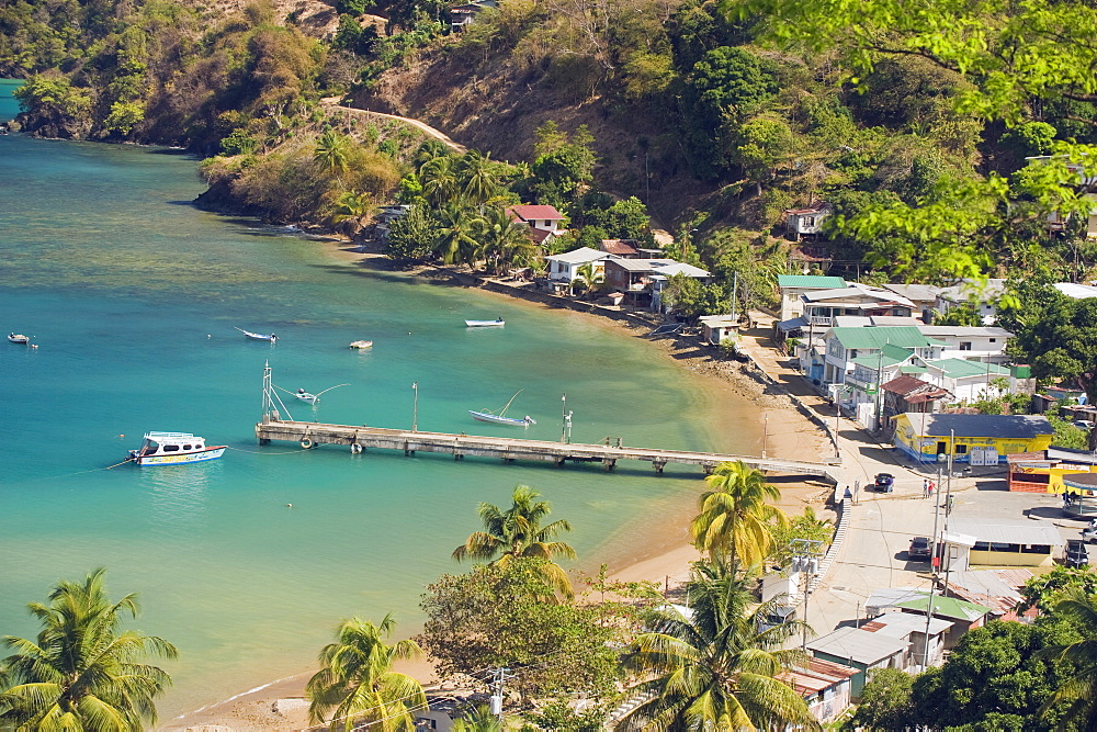 Pier at Pirate Bay, Charlotteville, Tobago, Trinidad and Tobago, West Indies, Caribbean, Central America