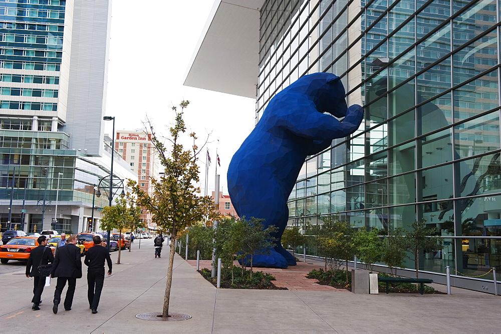 Big blue bear at Colorado Convention Center, Denver, Colorado, United States of America, North America