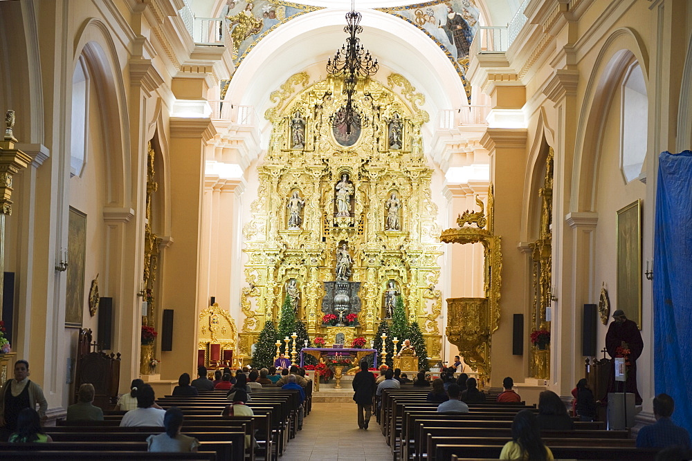 Interior of the 18th century Cathedral, Tegucigalpa, Honduras, Central America
