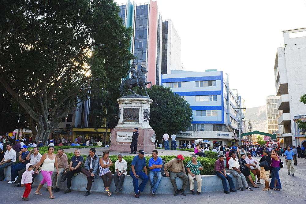 Equestrian statue of Franscisco Morazan, Plaza Morazan,  Tegucigalpa, Honduras, Central America