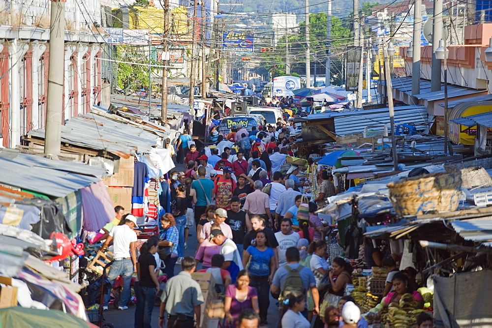 Street market, San Salvador, El Salvador, Central America