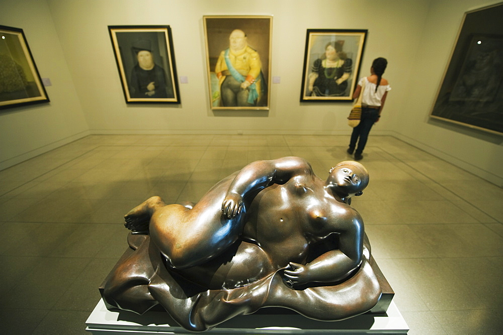 Sculpture and art work by Fernando Botero, Museo de Antioquia, Botero Museum, Medellin, Colombia, South America