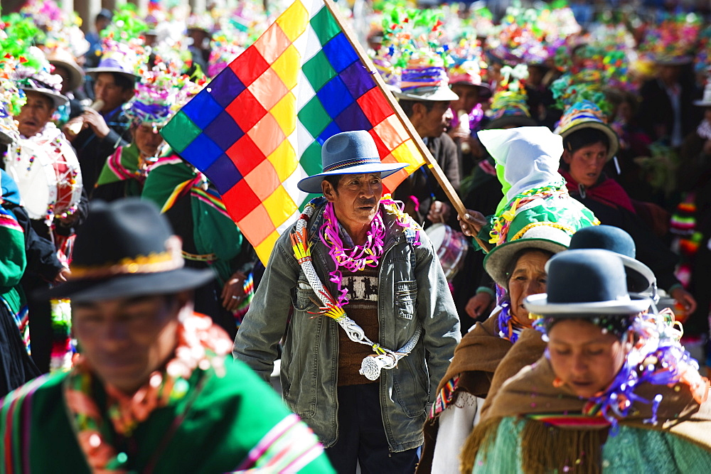 Anata Andina harvest festival, Carnival, Oruro, Bolivia, South America