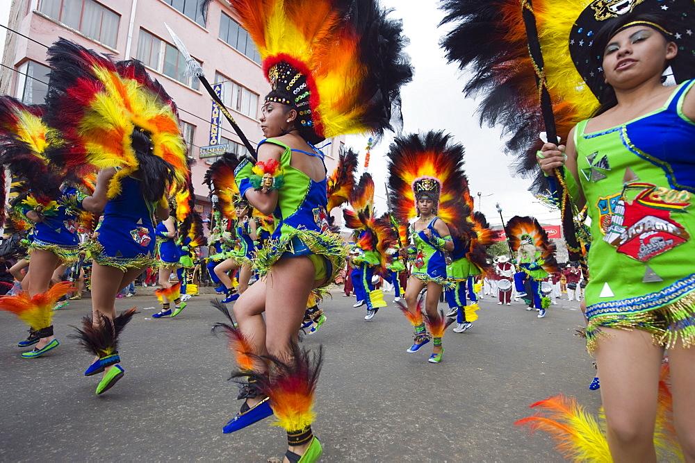 Parade at Oruro Carnival, Oruro, Bolivia, South America